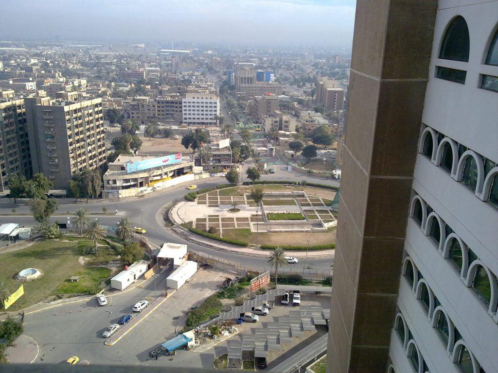 هتل گراند کریستال عیشتار بلندترین ساختمان بغداد بعد از برج البغداد